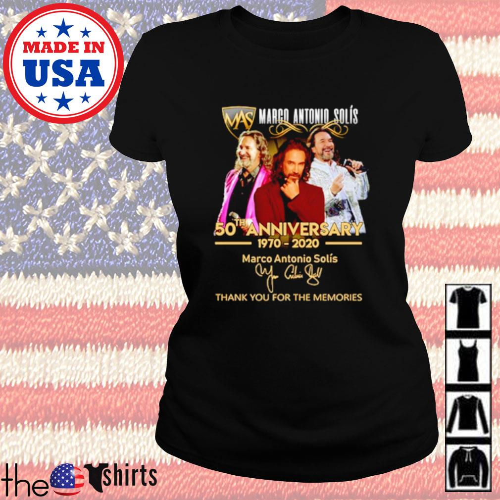 Marco Antonio Solís 50th anniversary 1970 2020 thank you for the memories s Ladies Tee Black