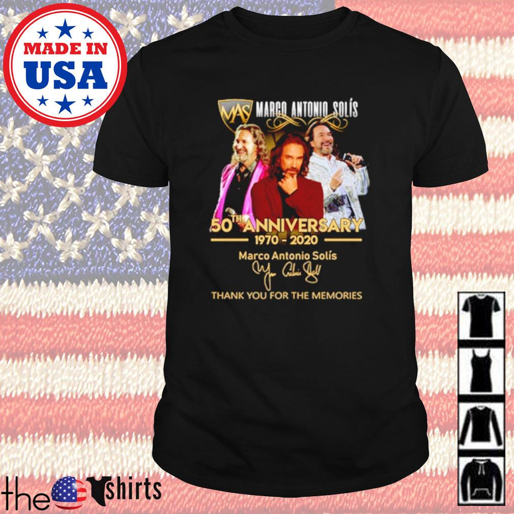 Marco Antonio Solís 50th anniversary 1970 2020 thank you for the memories shirt