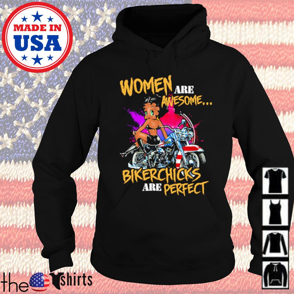 Motorbycle women are awesome bikerchicks are perfect s Hoodie Black