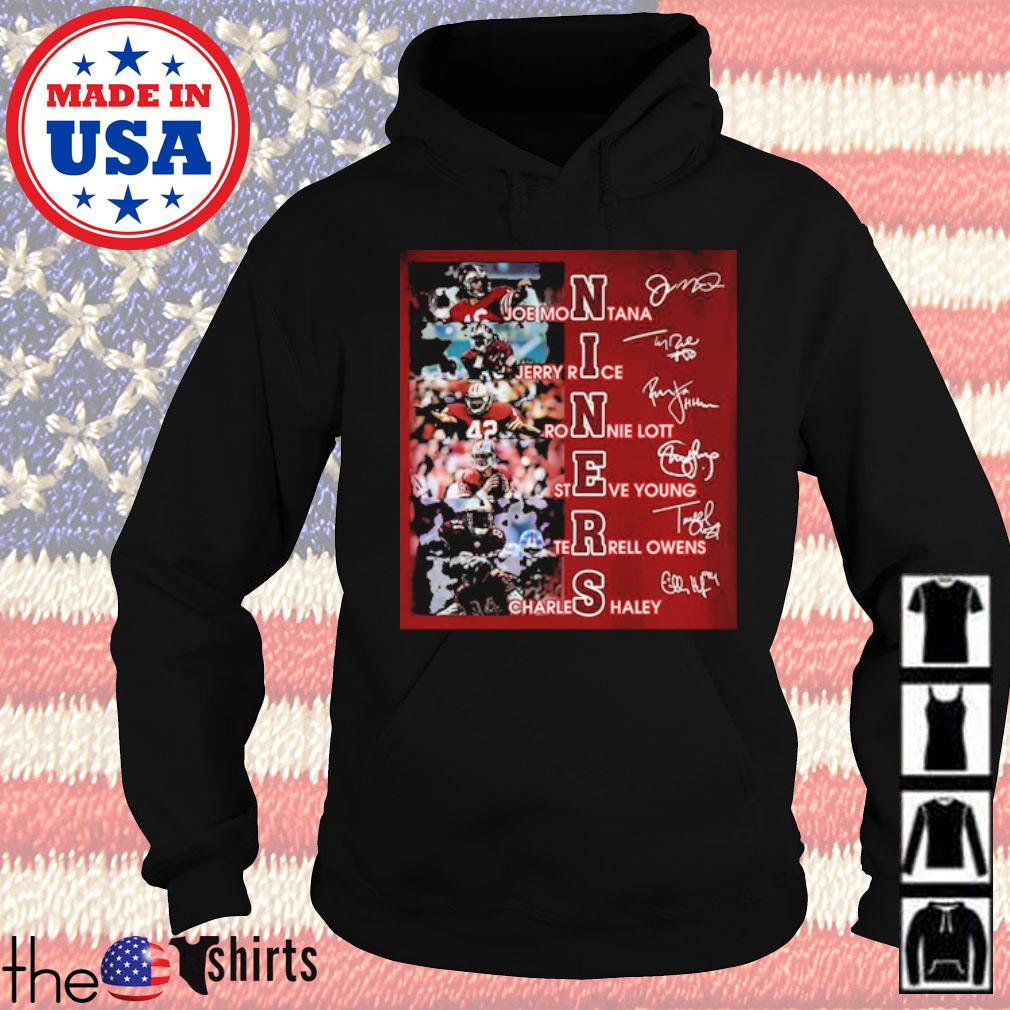 Niners team players signatures s Hoodie Black