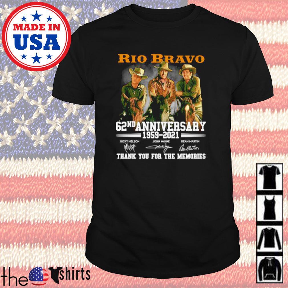 Rio Bravo 62nd Anniversary 1959-2021 all characters signatures shirt