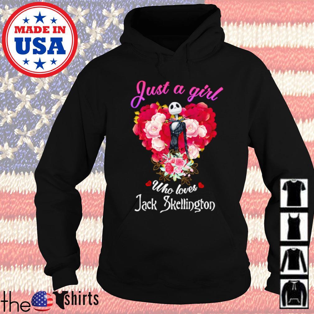 Roses just a girl who loves Jack Skellington s Hoodie Black