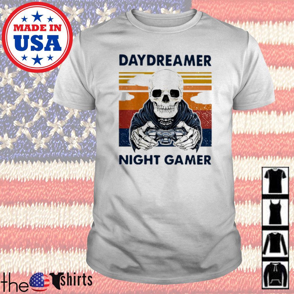 Skull Daydreamer Night Gamer vintage shirt