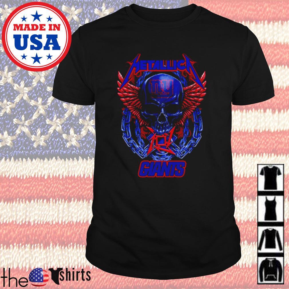 Skull Metallica New York Giants shirt