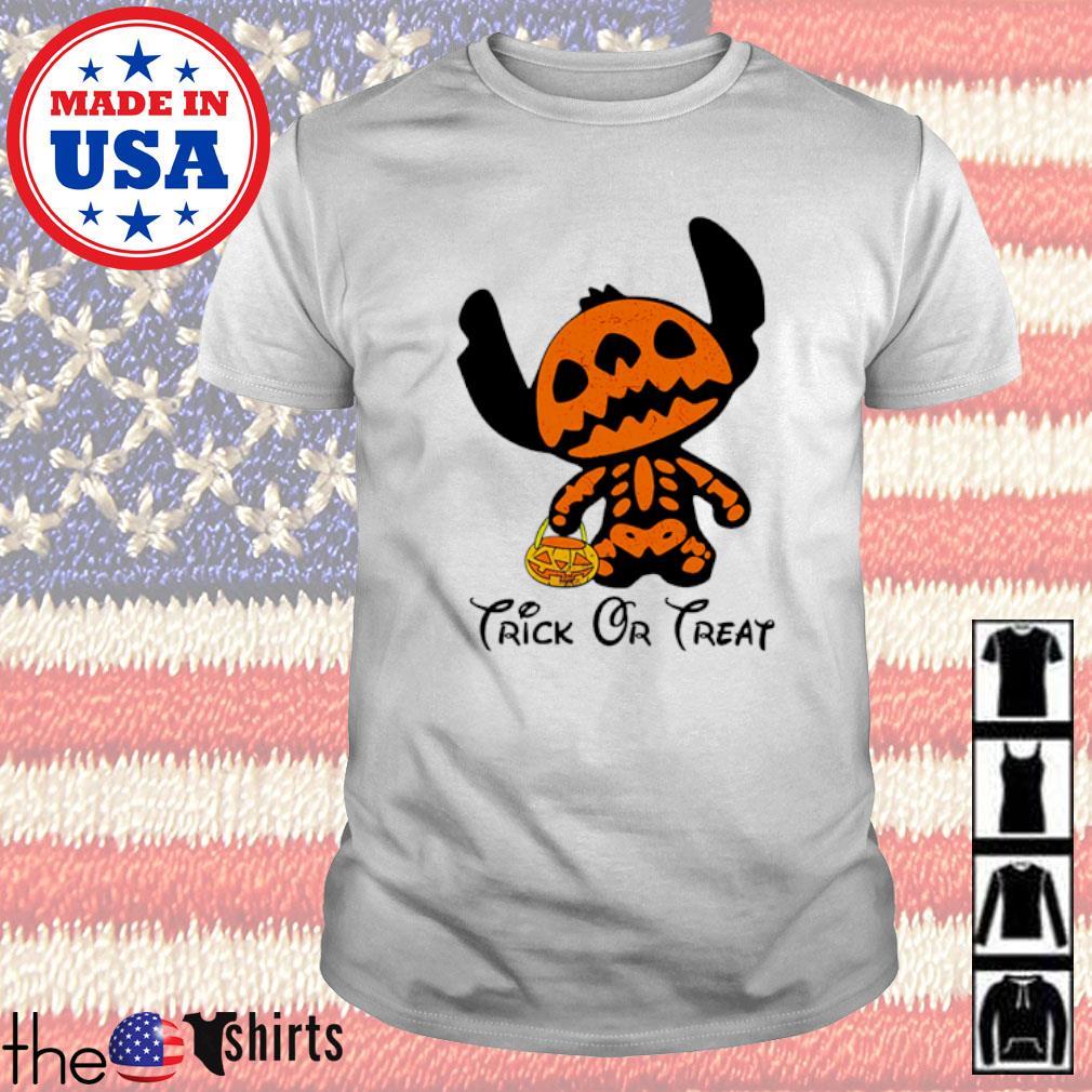 Stitch Skull Halloween trick or treat shirt