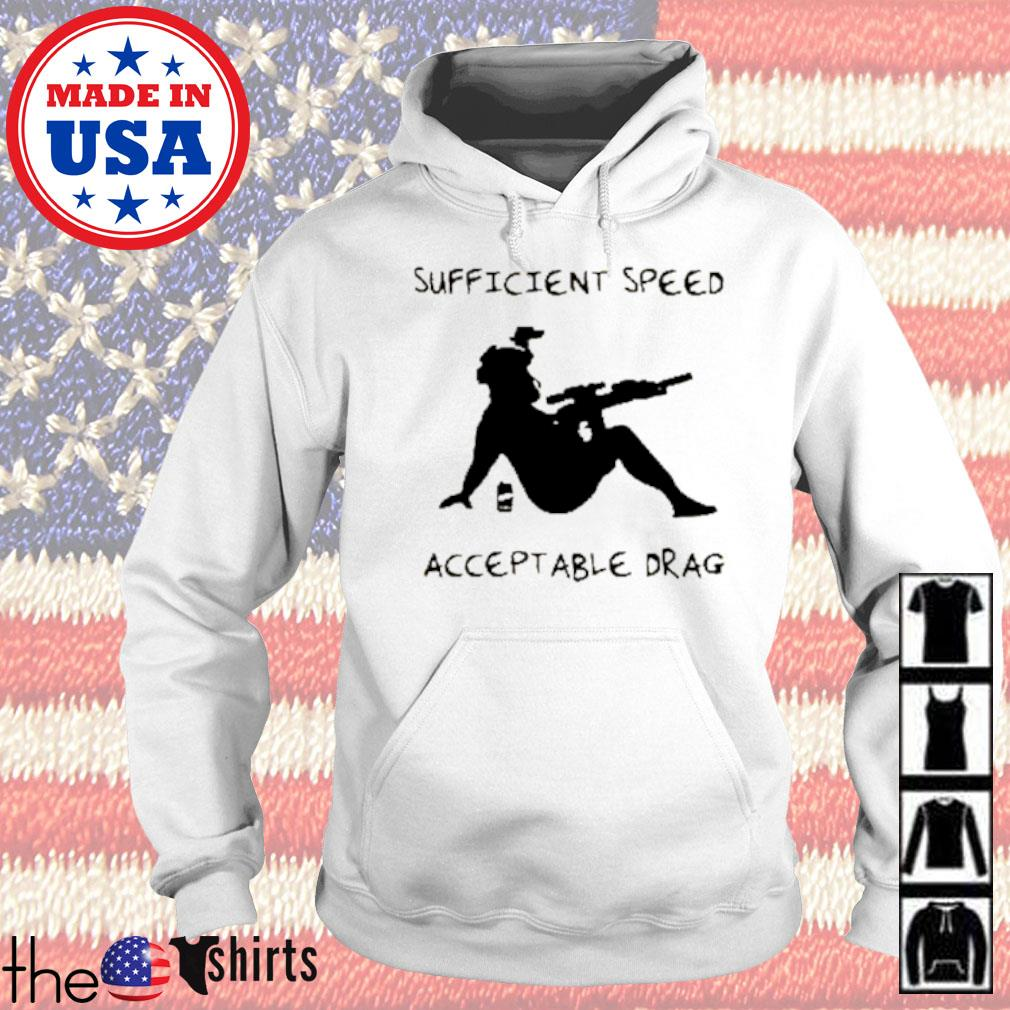 Sufficient speed acceptable drag s Hoodie White