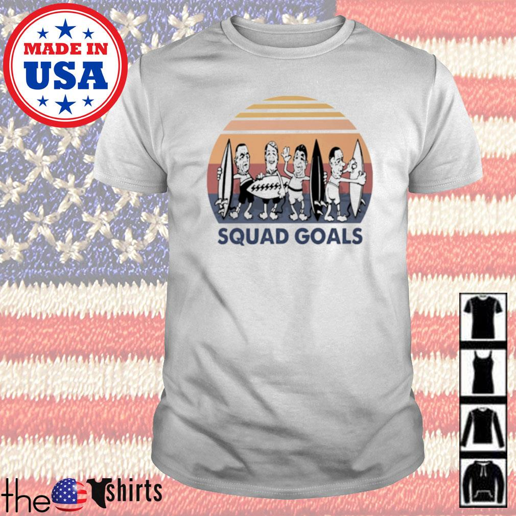 Surfing Squad Goals sunset shirt