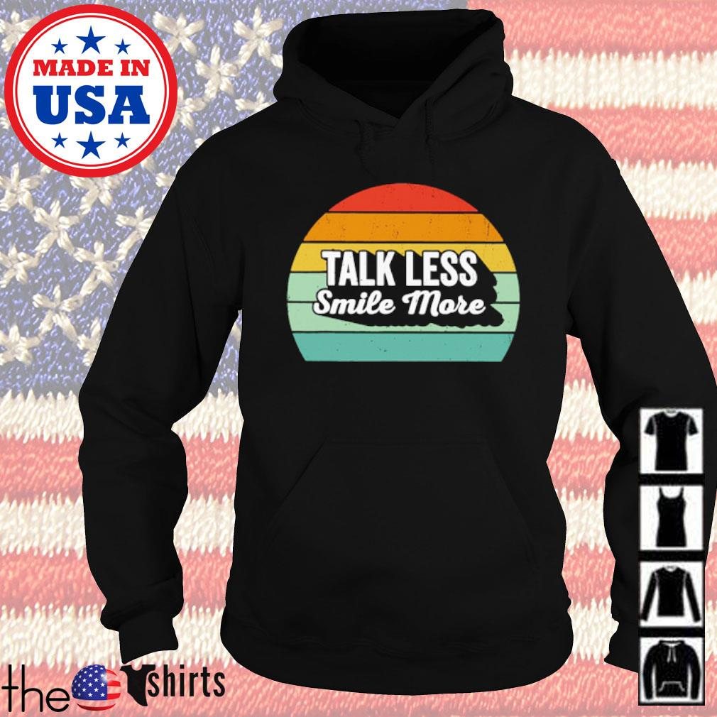 Talk Less smile more sunset s Hoodie Black