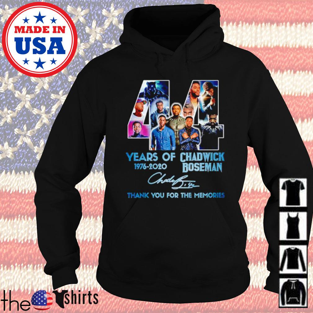 Thank you for the memories 44 Year of Chadwick Boseman 1976-2020 signature s Hoodie Black