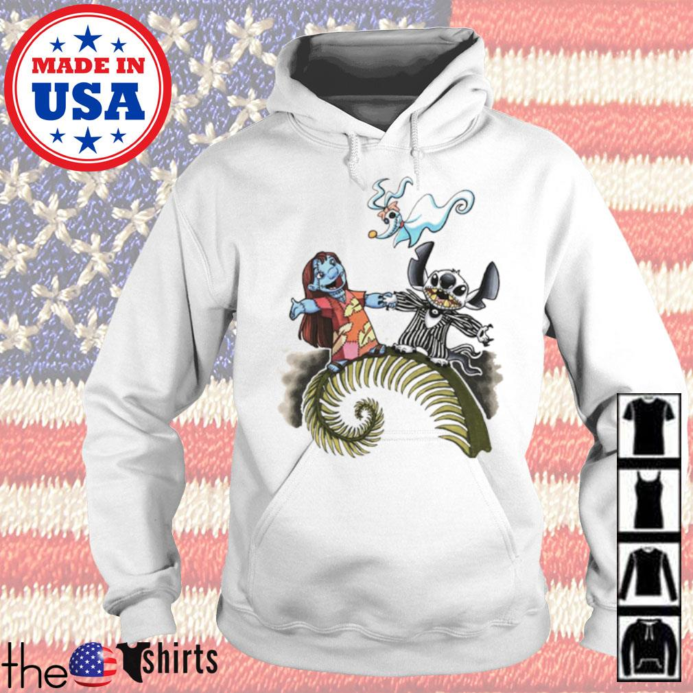 The Nightmare Before Christmas Lilo and Stitch s Hoodie White