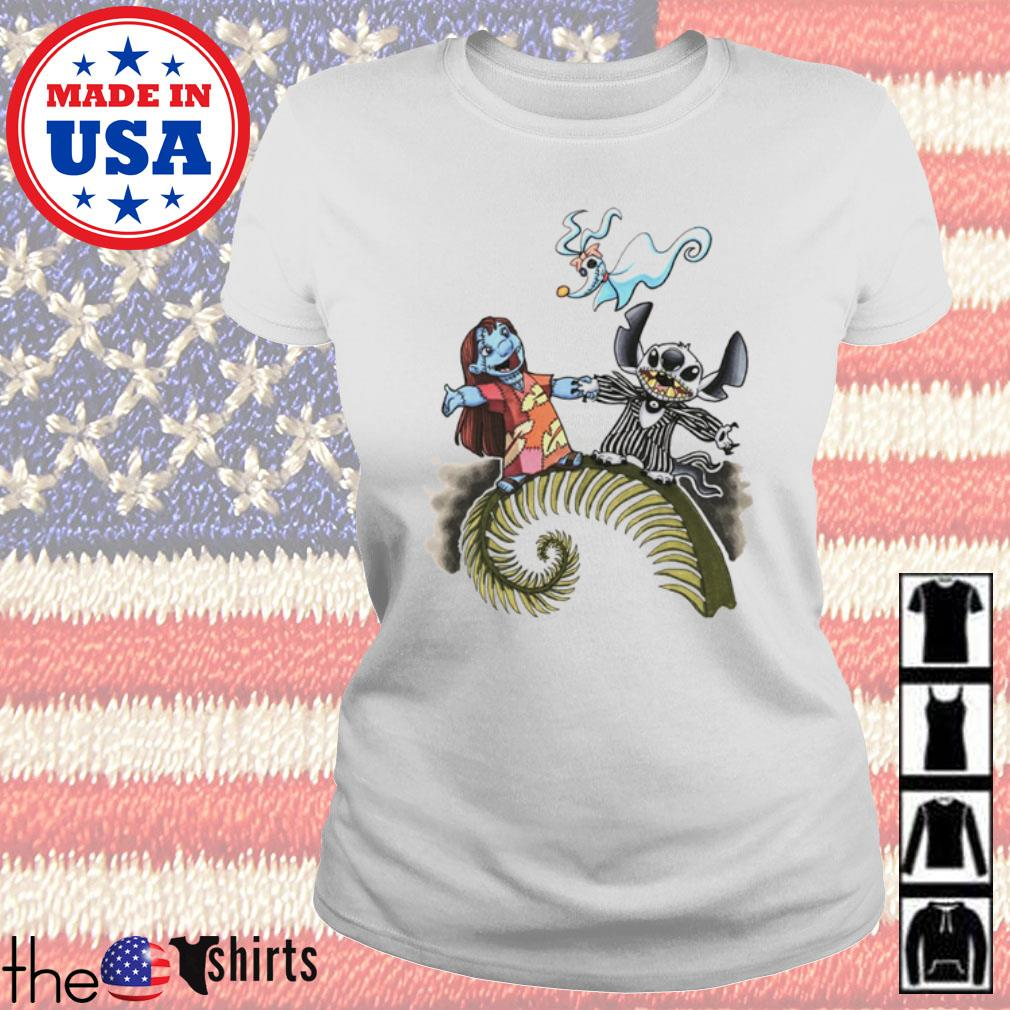 The Nightmare Before Christmas Lilo and Stitch s Ladies Tee White