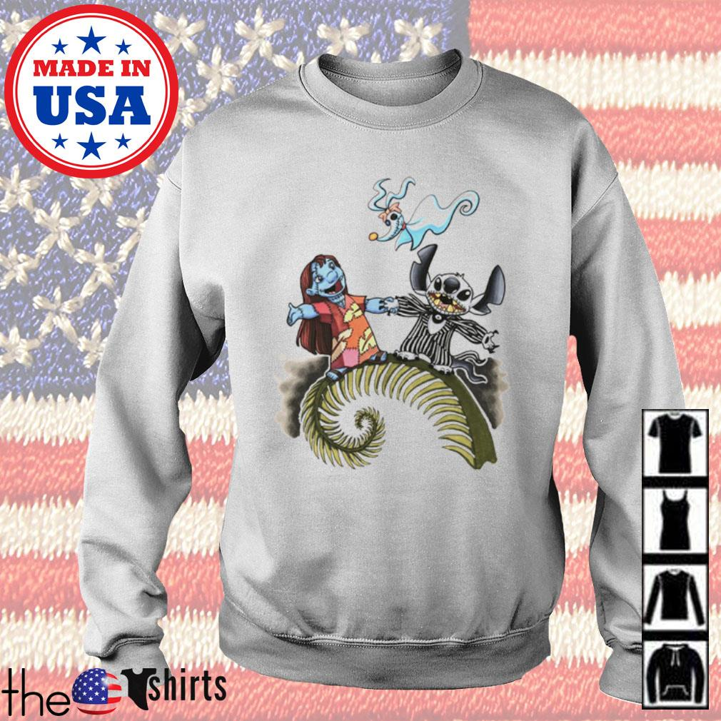The Nightmare Before Christmas Lilo and Stitch s Sweater White