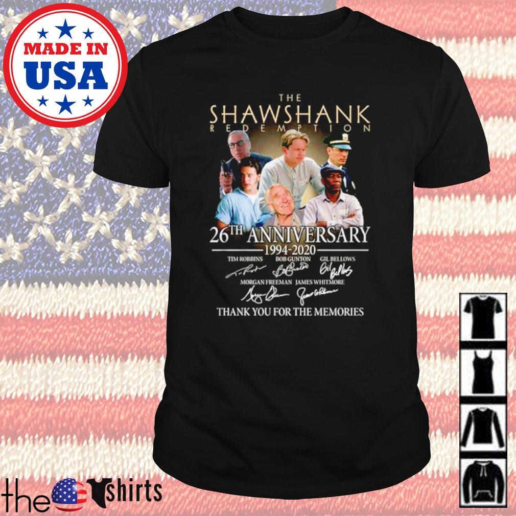 The Shawshank Redemption 26th anniversary 1994-2020 all characters signatures shirt