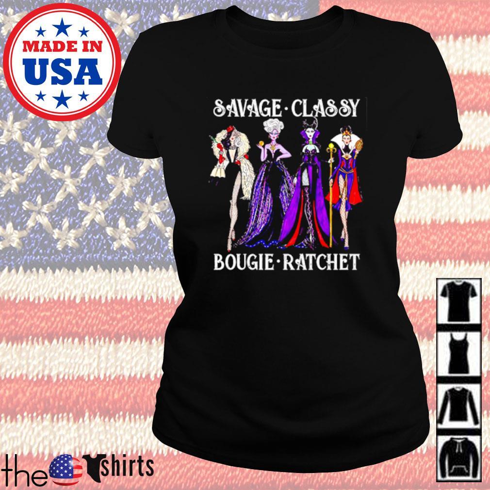 Villain savage classy bougie ratchet s Ladies Tee Black