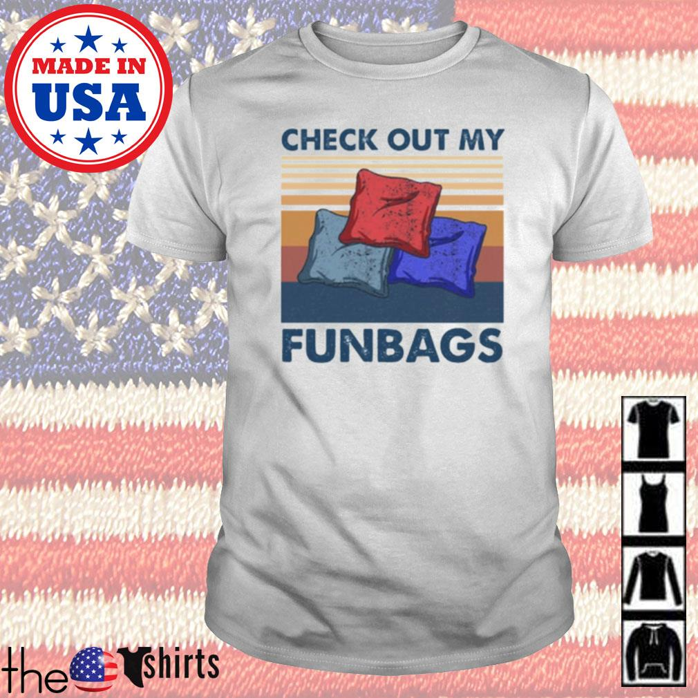 Vintage Cornhole check out my funbags shirt