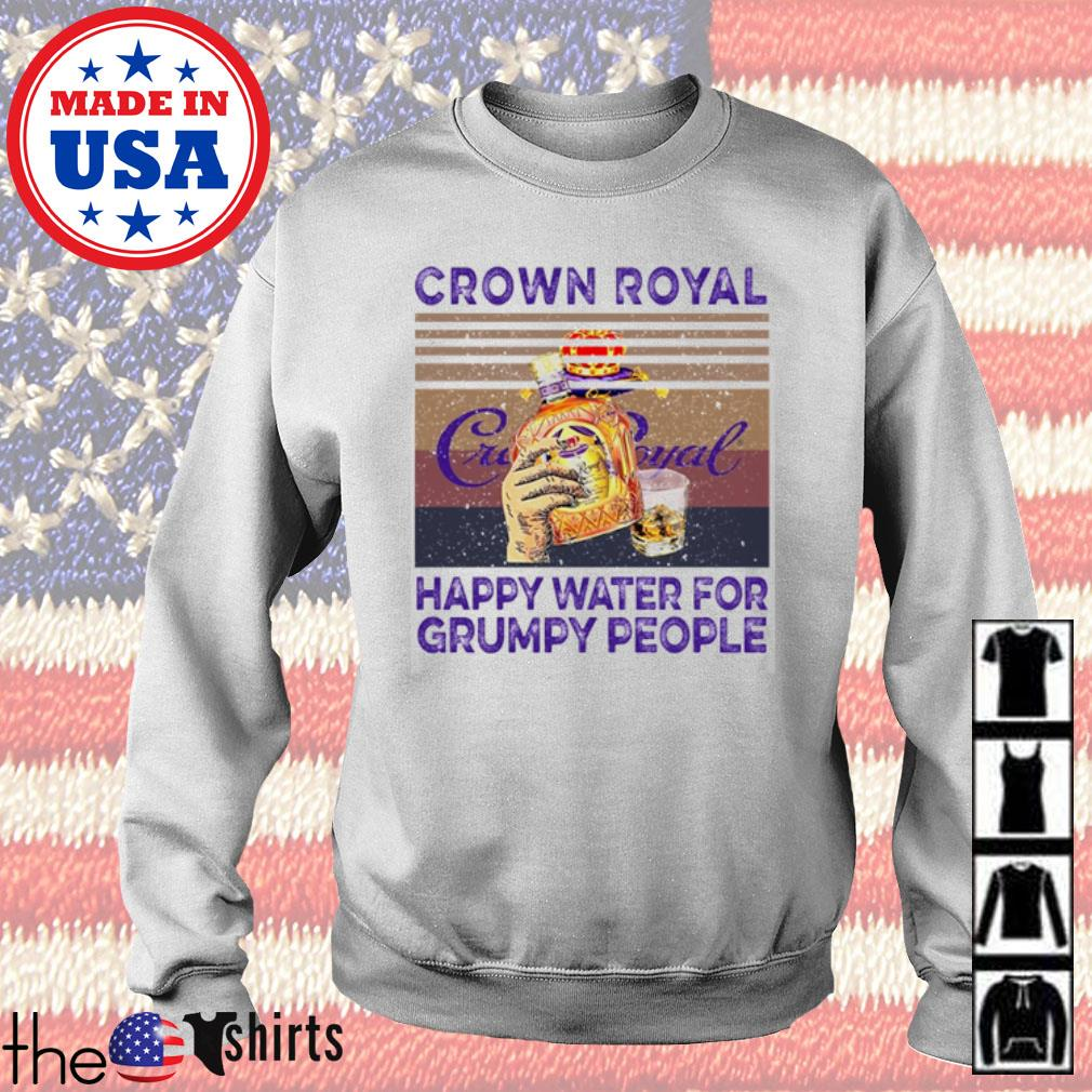 Vintage Crown Royal happy water for grumpy people s Sweater White