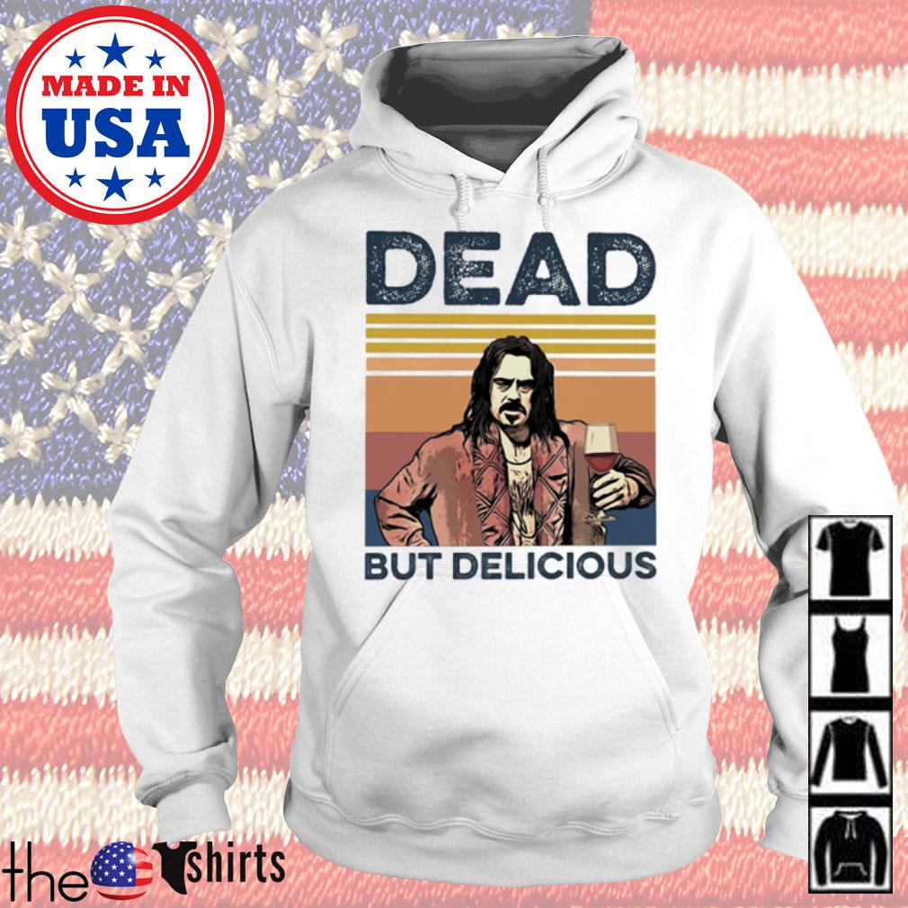 Vintage Dead but Delicious s Hoodie White