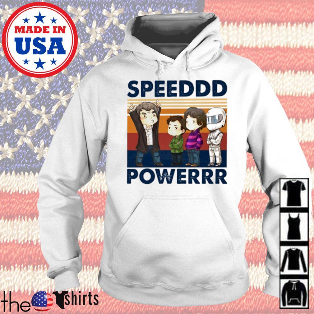 Vintage Speeddd powerrr s Hoodie White