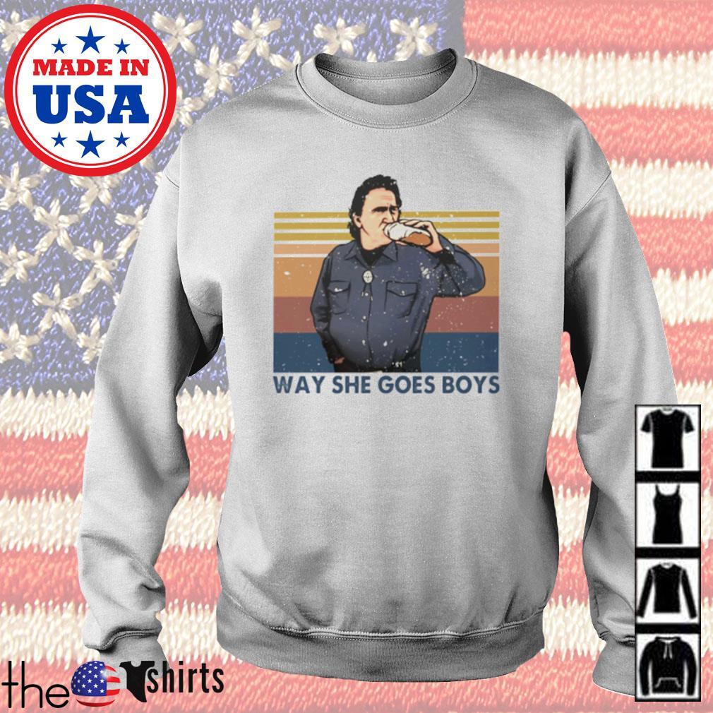 Vintage Trailer Park Boys way she goes boys s Sweater White