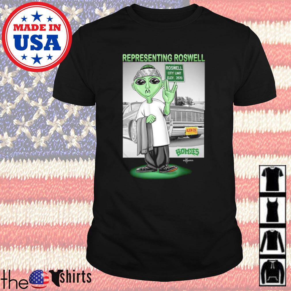 Alien Boy Representing Roswell City limit Homies shirt