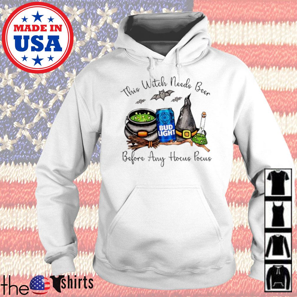 Bud Light this witch needs beer before any Hocus Pocus s Hoodie White