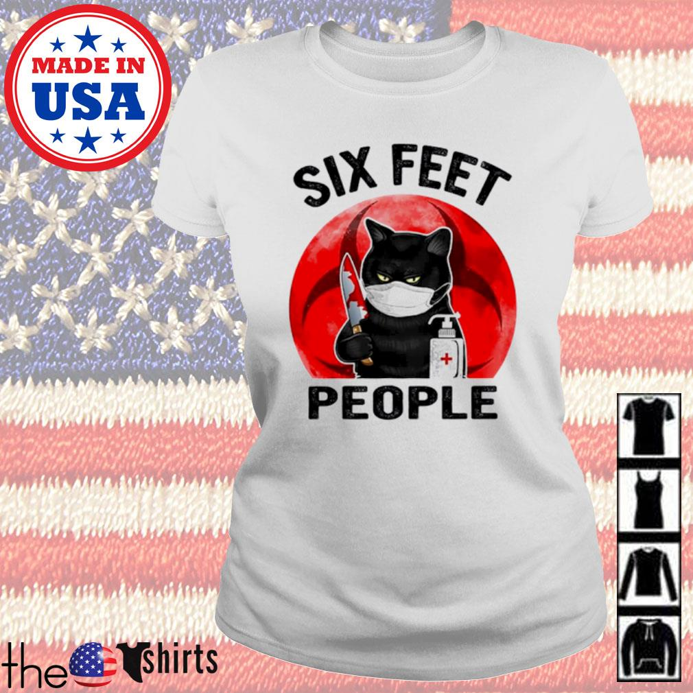 Cat killer six feet people COVID-19 s Ladies Tee White