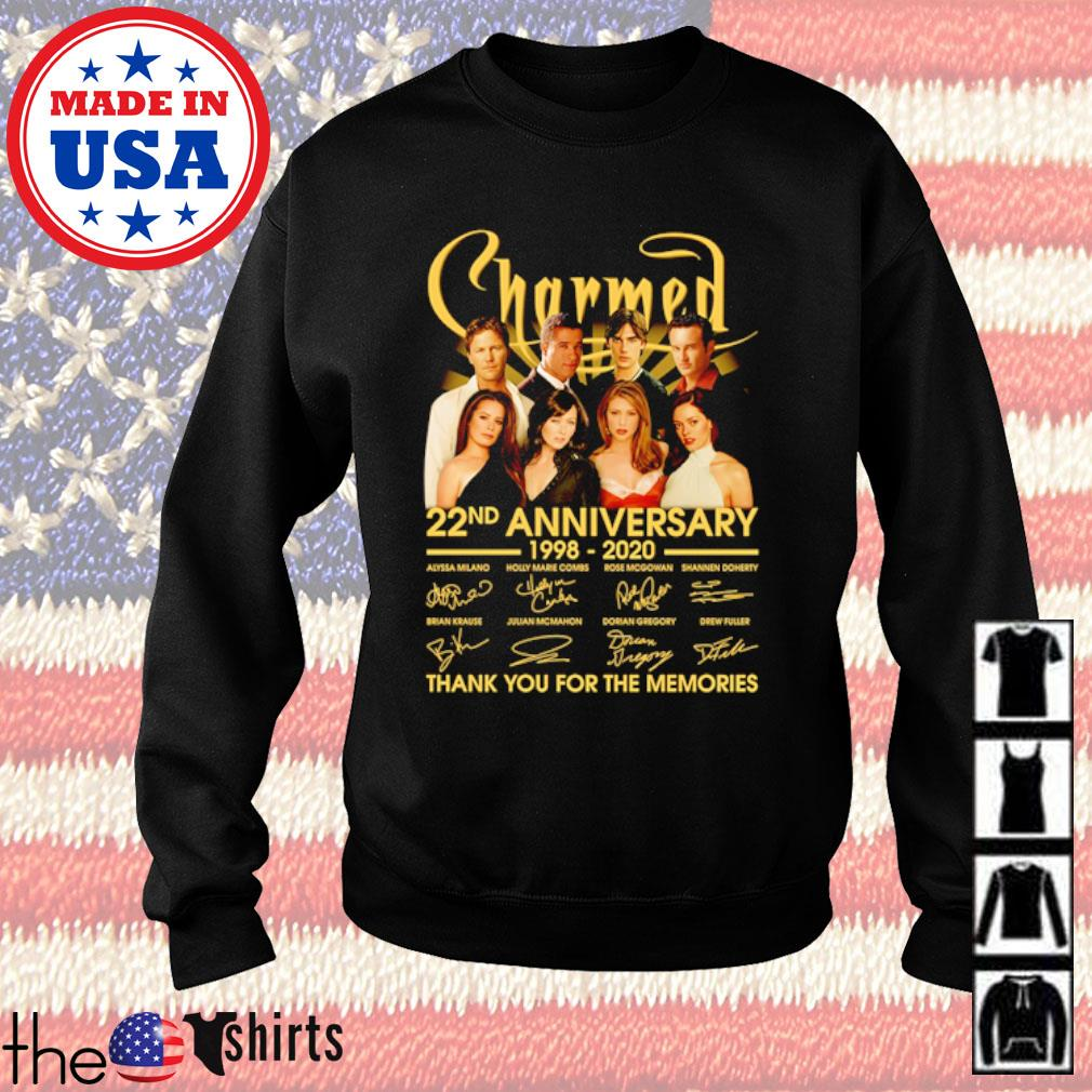 Charmed 22nd Anniversary 1998-2020 all characters signatures s Sweater Black