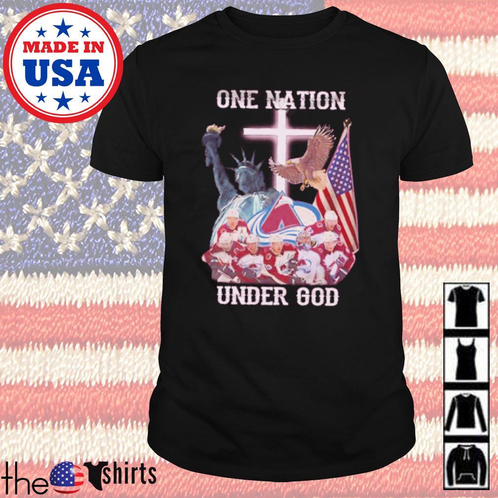 Colorado Avalanche Ice hockey team one nation under God shirt