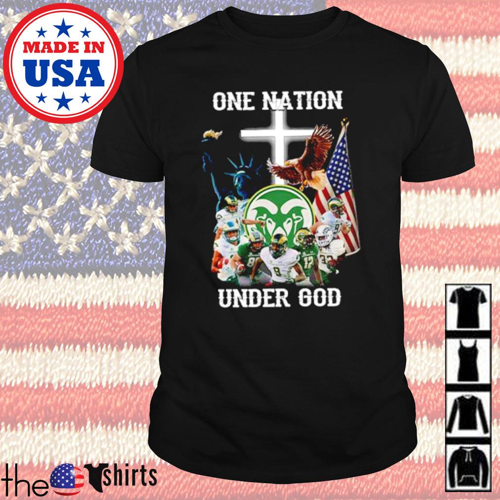 Colorado State Rams football team one nation under God shirt