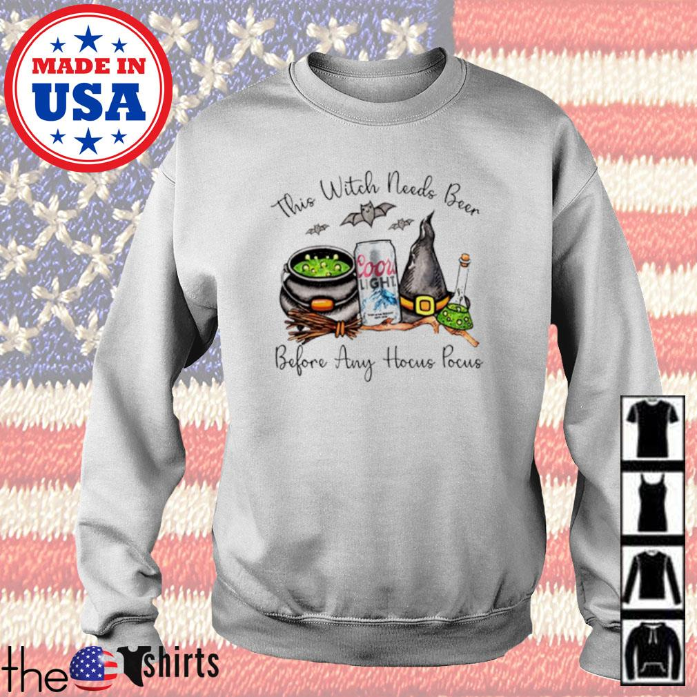 Coors Light this witch needs beer before any Hocus Pocus s Sweater White