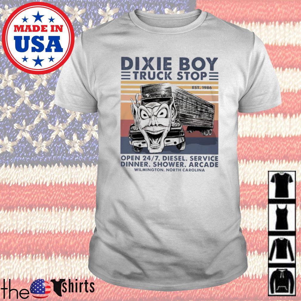 Dixie Boy truck stop open 247 diesel service dinner shower arcade Wilmington North Carolina vintage shirt