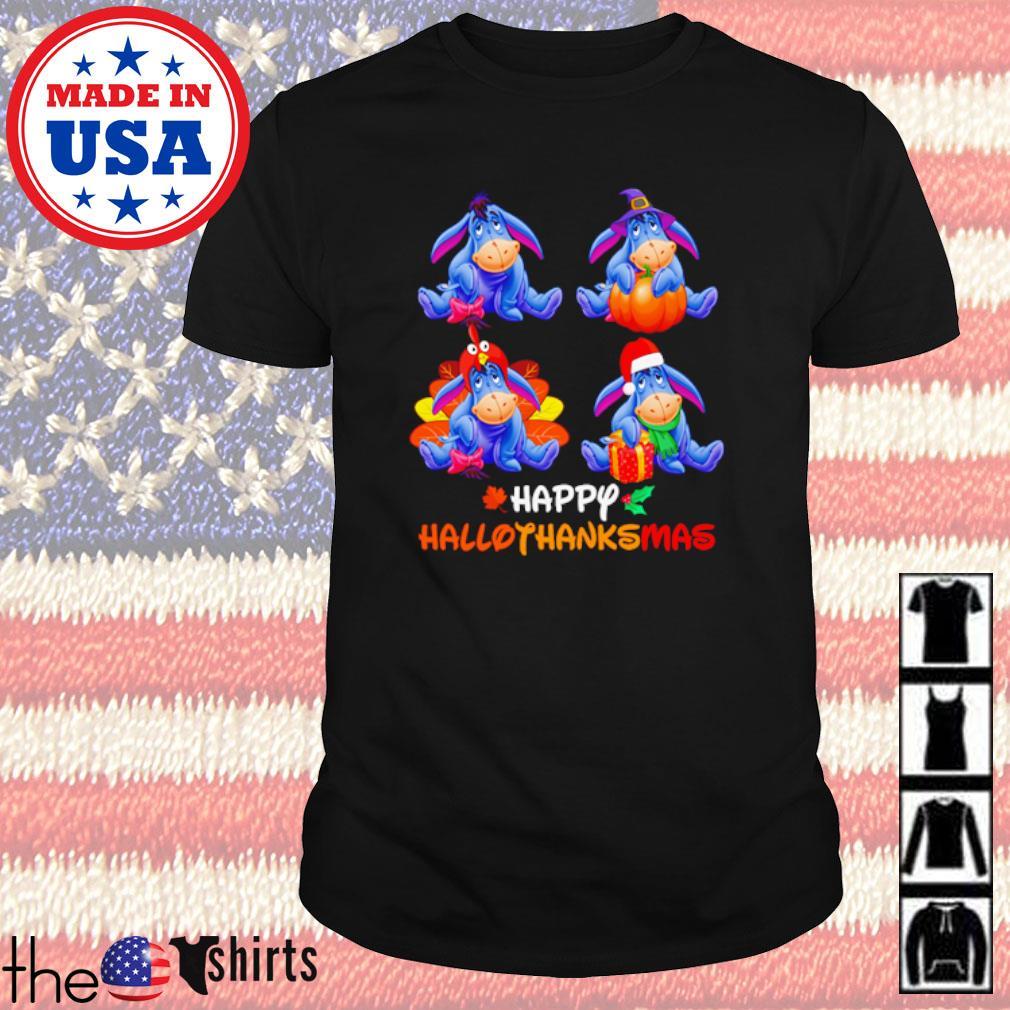 Eeyore Happy Hallothanksmas shirt