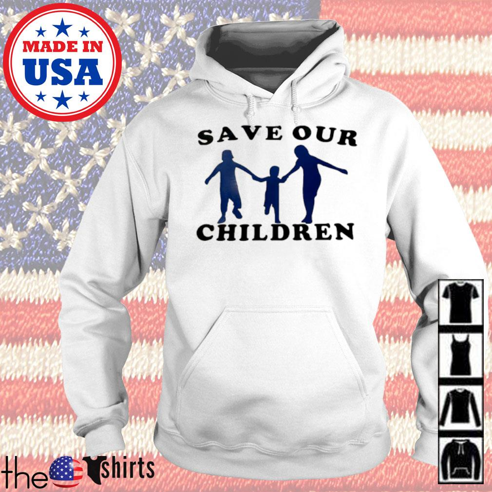 Family Save our children s Hoodie White