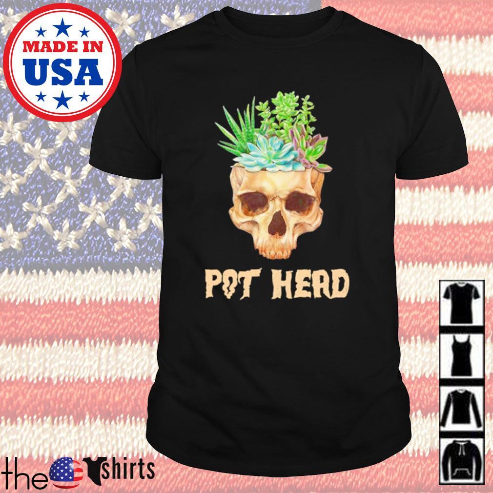 Gardening Skull Plant tree Pot Head shirt