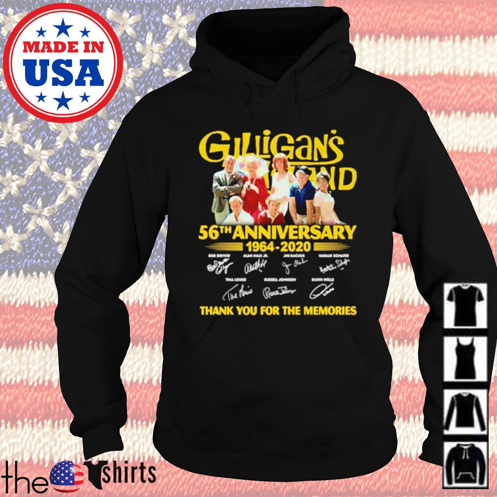 Gilligan's Island 56th anniversary 1964-2020 thank you for the memories signatures s Hoodie Black