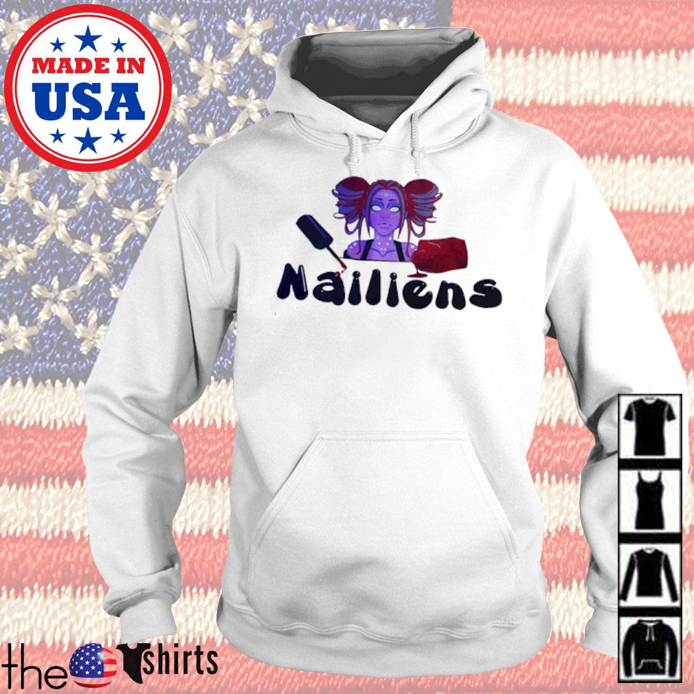Girl Nailiens s Hoodie White