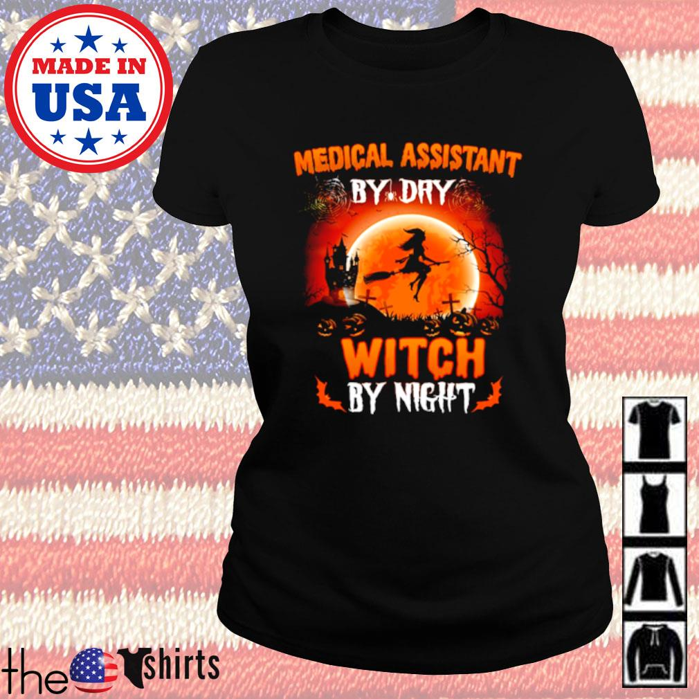 Halloween Medical assistant by dry witch by night s Ladies Tee Black