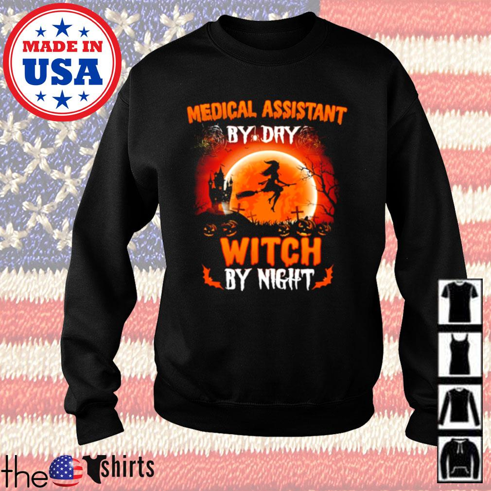 Halloween Medical assistant by dry witch by night s Sweater Black