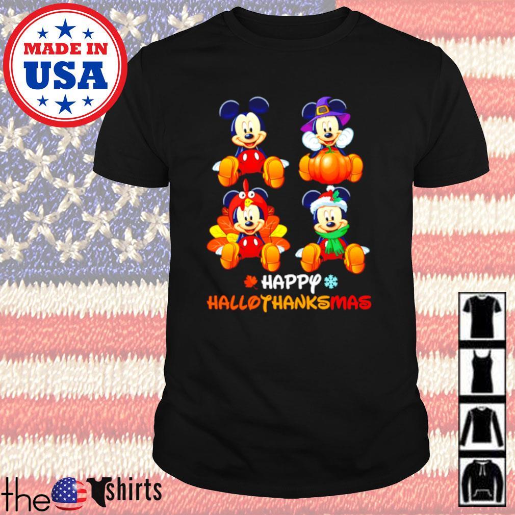Halloween Mickey Mouse Pumpkin happy Hallothanksmas shirt
