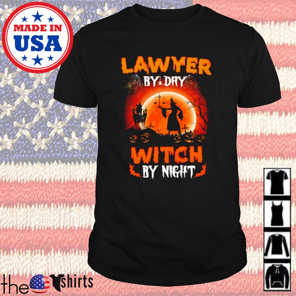 Halloween Witch sitting on broom Lawyer by dry witch by night shirt