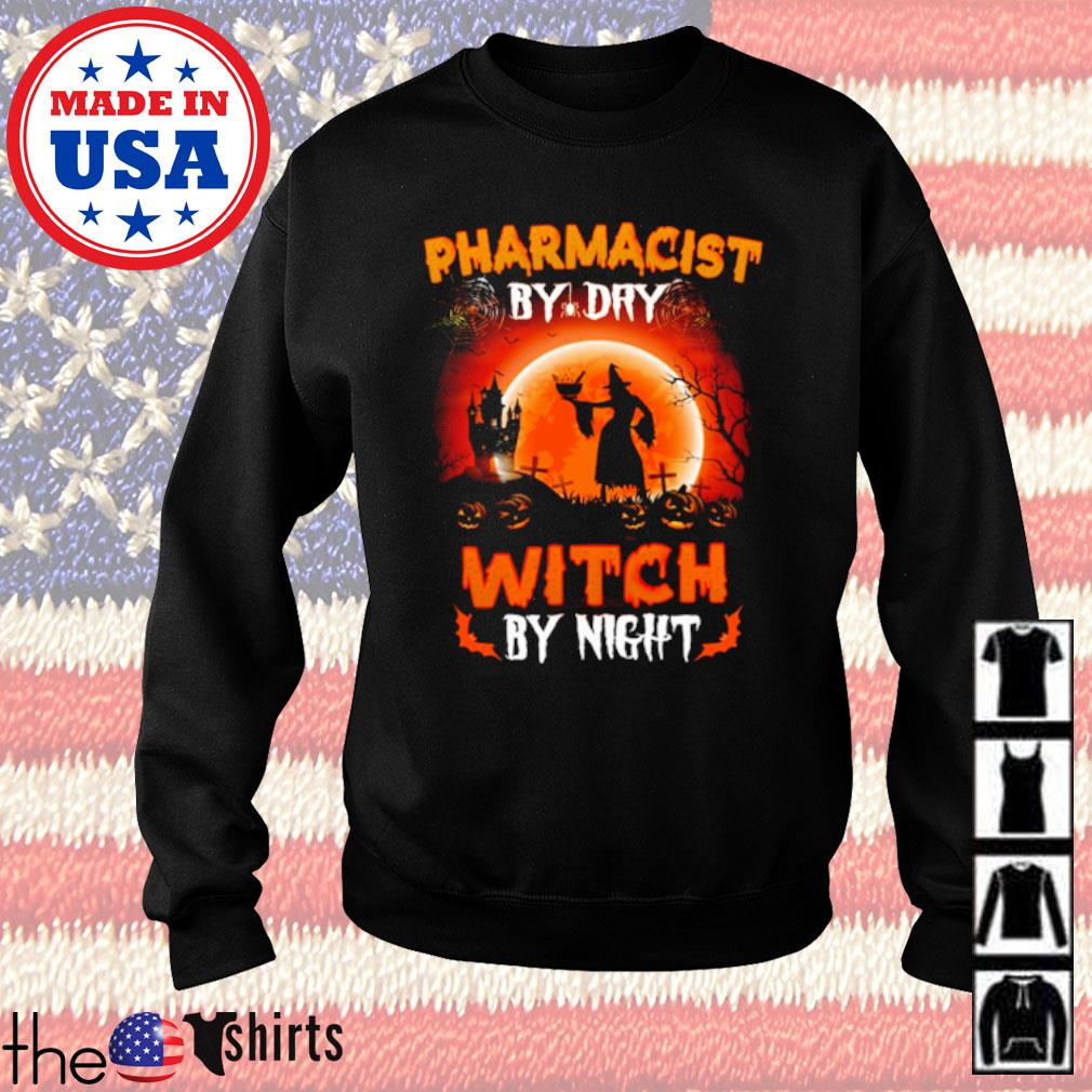 Halloween Witch sitting on broom Pharmacist by dry witch by night s Sweater Black