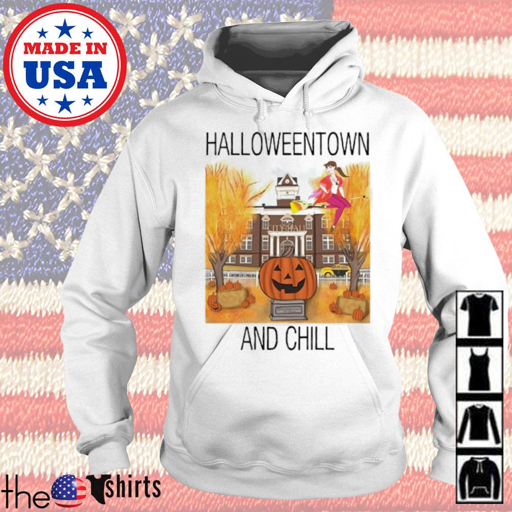 Halloweentown and chill pumpkin s Hoodie White