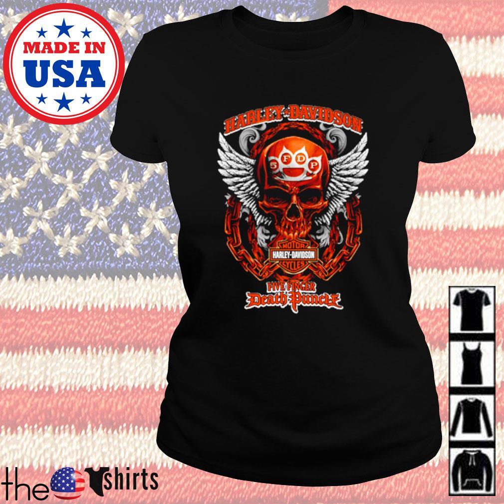 Harley-Davidson Motor Harley Davidson Cycles Five Finger Death Punch s Ladies Tee Black