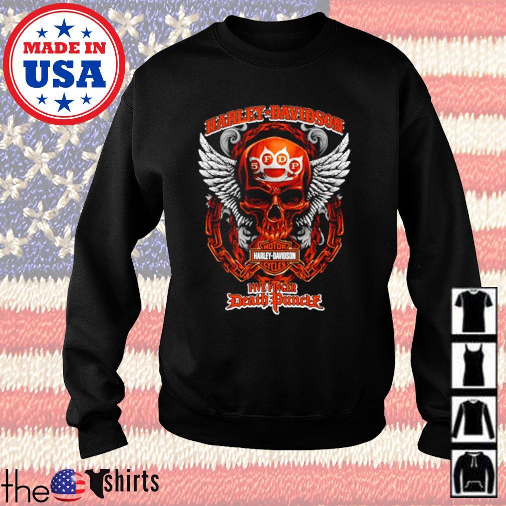 Harley-Davidson Motor Harley Davidson Cycles Five Finger Death Punch s Sweater Black