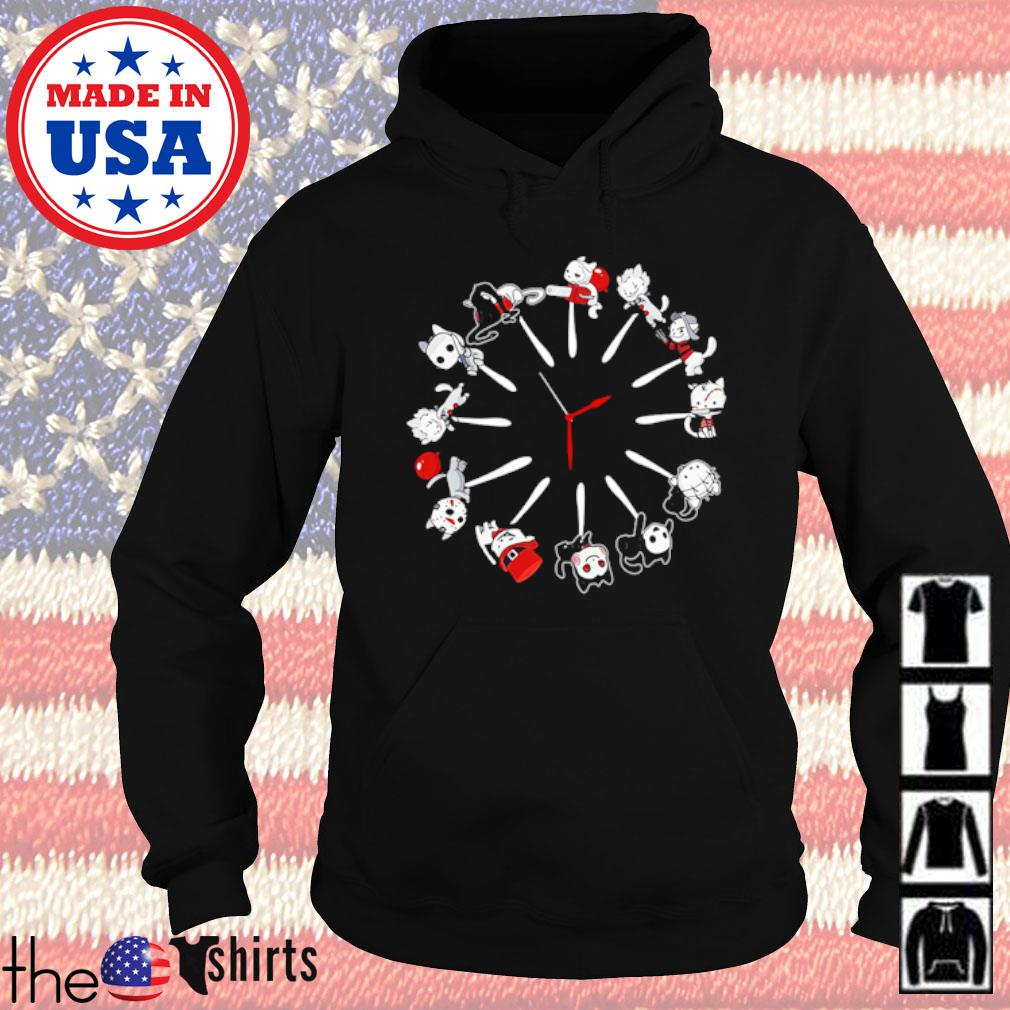 Horror characters movies cats Clock s Hoodie Black