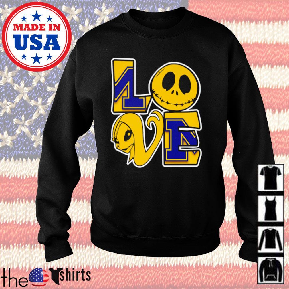 Jack Skellington and Sally love Michigan Wolverines s Sweater Black