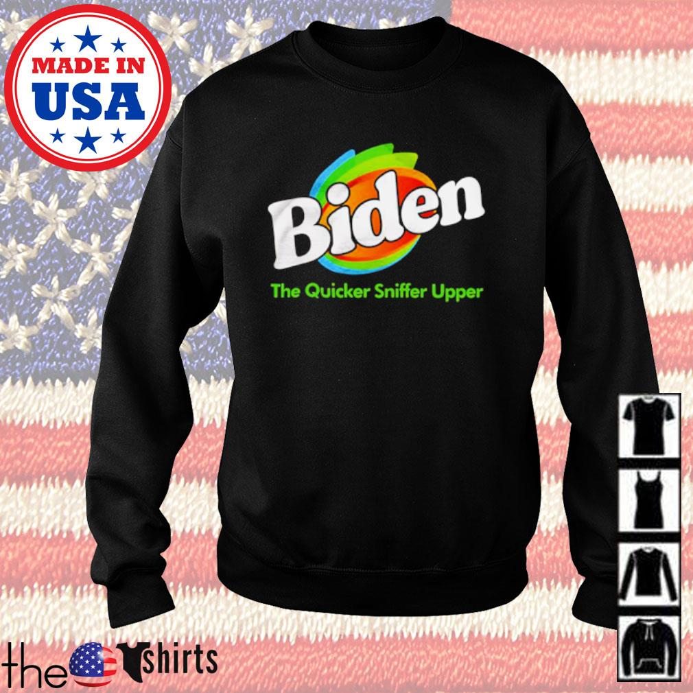 Joe Biden The Quicker Sniffer Upper s Sweater Black