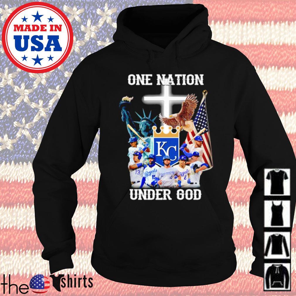 Kansas City Royals Baseball team one nation under God s Hoodie Black