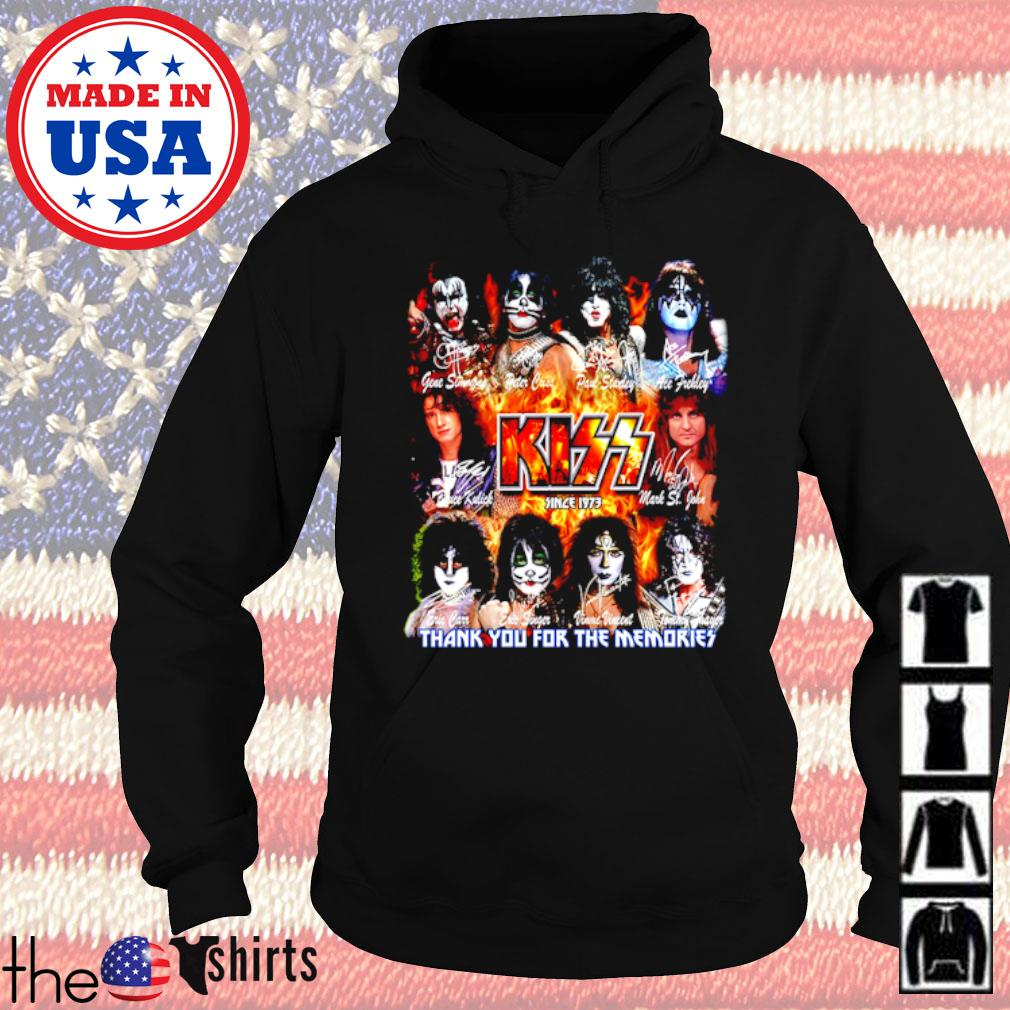 Kiss Band since 1973 thank you for the memories all members signatures s Hoodie Black