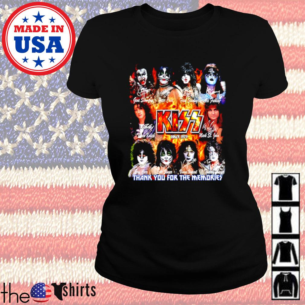 Kiss Band since 1973 thank you for the memories all members signatures s Ladies Tee Black